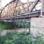""": """"Rekonštrukcia systému antikoróz ochrany OK mostu trate Michaľany – Medzilaborce"""" – lešenářské práce"""